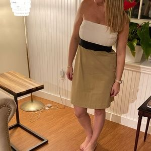Theory - Tricolored Strapless Dress- New with Tags